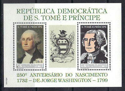 S.Tome & Principe 1982 American President George Washington MNH S/S SC# 663A