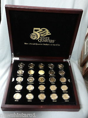 #xx.  Boxed  Set Of Gold Plated Usa State  Quarter  Dollar  Coins