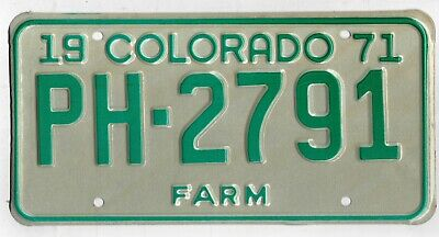 COLORADO - nice old retro AMERICAN LICENSE NUMBER PLATE #COold