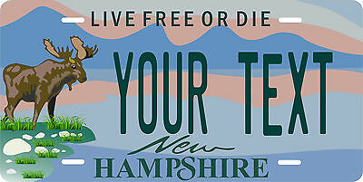 New Hampshire Moose License Plate Personalized Custom Car Bike Motorcycle Moped
