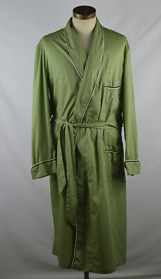 Vintage 1960s/1970s Green Robe w/Black and White Detailing by Amcrest Size XL