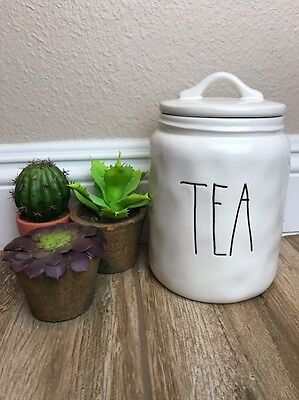 New Rae Dunn Artisan Collection Rare Tea Canister With Lid