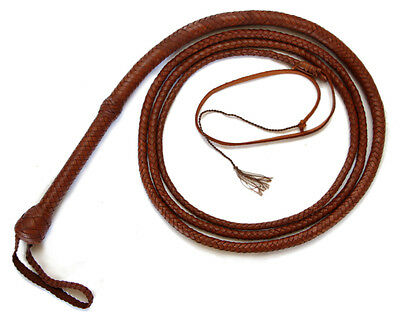 Indiana Jones Style WHISKEY BULLWHIP Leather by Magnoli Clothiers