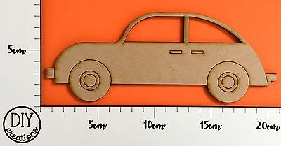 MDF Car - Wooden Craft Shape - DIY Decor for Adults and Kids
