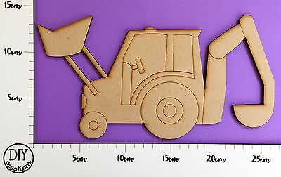 MDF Excavator / Digger - Wooden Craft Shape - DIY Decor for Adults and Kids