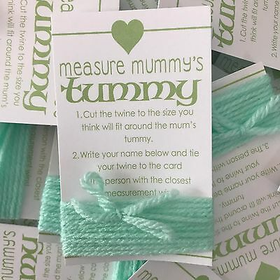 Baby Shower Game - MEASURE MUMMY'S TUMMY - BELLY MEASURE GAME GREEN UNISEX