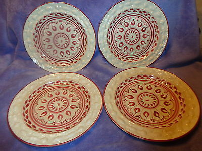 4 China Dinner Plates ~Royal Ivory England ~Adams~ Titian Ware- Handpainted