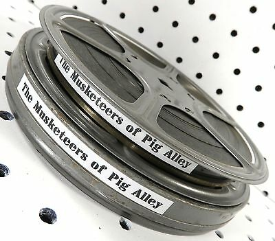16mm Film: The Musketeers of Pig Alley 1912 D.W. Griffith/Gish 13m 25s B/Wsilent