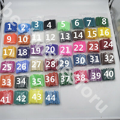 44 Color For Choose Dental Orthodontic Ligature Ties Elastic Braces Rubber 1008
