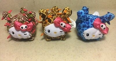 NWT Lot Of 3 Tokidoki for Hello Kitty Safari Cactus Mini Plush