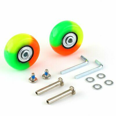 2 X OD 50mm Luggage Suitcase Replacement Wheels Axles Rubber Deluxe Repair US