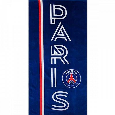 Drap de plage ou drap de bain PSG 140x70 collection football 100 % coton