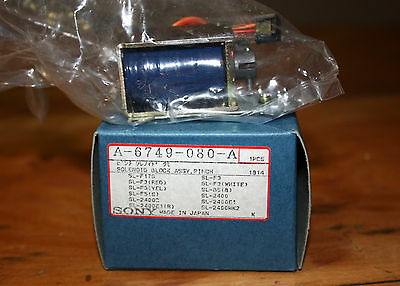 Sony A-6749-080-A Solenoid Block Assembly, Pinch - for Betamax SL-F17/F3/F5/2400