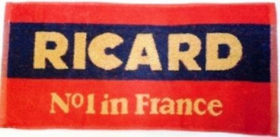 "Ricard Cotton Bar Towel 20"" x 9"" pp"