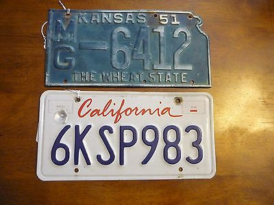 1951 Montgomery County Kansas State Shape License Plate