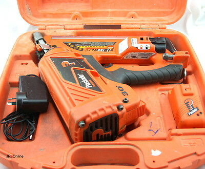(M) Paslode Nail Gun B20543 In Case With Charger And Two Batteries