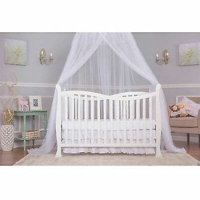 Dream On Me Violet 7-in-1 Convertible Life Style Crib Finish White Baby Drem New
