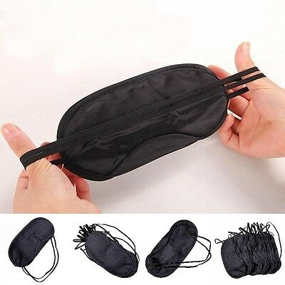 Comfortable Travel Eye Mask, Sleep Sleeping Cover Rest Eyepatch Blindfold Black