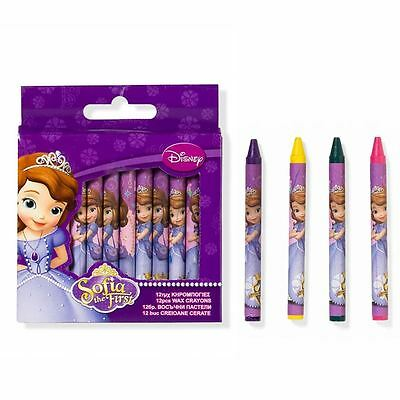 Sofia The first 12 Pack Wax Crayons Drawing - Kids Draw - Crayon Set Disney