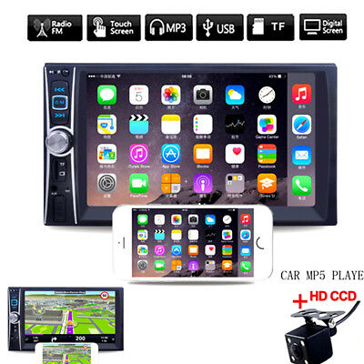 "6.6"" 2DIN Car DVD Player Bluetooth MP3/MP4/Audio/Video/USB Rearview+Camera"