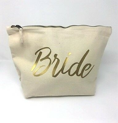 Bride Make Up Cosmetic Wash Bag Wedding Gift Bridal Party Hen Favours Bag