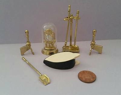 Dolls House Miniature - Fireplace tools - 1/12 Scale