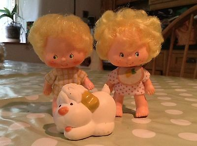 Strawberry Shortcake doll Lem & Ada & woofer dog vintage