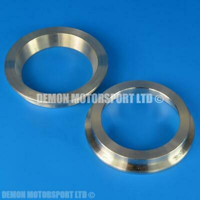 "Pair of 2.5"" Inch Concave V Band Exhaust Turbo Flanges (Stainless Steel)"