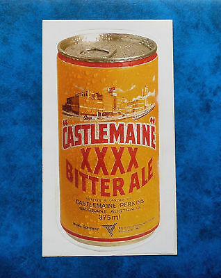 XXXX  BITTER  ALE ..  Original Vintage  1980,s Pub Beer Fridge sticker