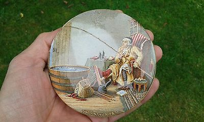 A Nice Early THE ENTHUSIAST Prattware Pot Lid.