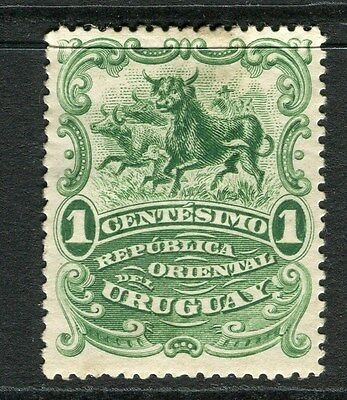 URUGUAY;  1900 early Pictorial issue Mint hinged 1c. value