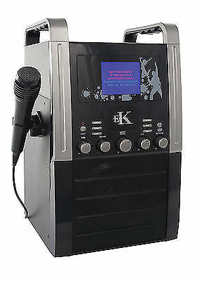 Easy Karaoke EKS515B Black Band Set Karaoke Machine With 2 Microphones Included