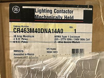 General Electric (GE) CR463M40DNA14A0 Lighting Contactor * New, Free Shipping *