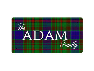 WP_CLAN_008 The ADAM Family (Adams Tartan) - Metal Wall Plate
