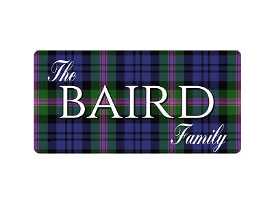 WP_CLAN_031 The BAIRD Family (Baird Modern Tartan) - Metal Wall Plate