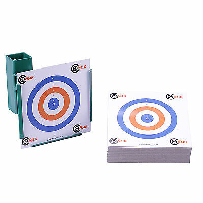 14cm TARGET HOLDER & 100 TARGETS Funnel Pellet Trap Catcher Airgun Air Gun Rifle