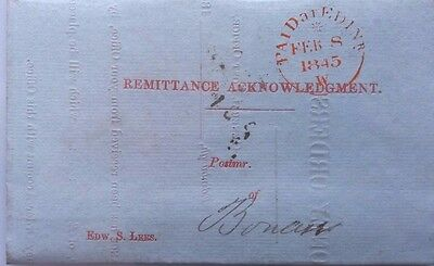 Great Britain 1845 Edinburgh Money Orders Cover With Too Late Postmark