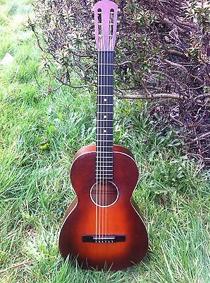 OAHU USA Vintage 1930s Blues Parlor Guitar 13 inches V-shaped neck