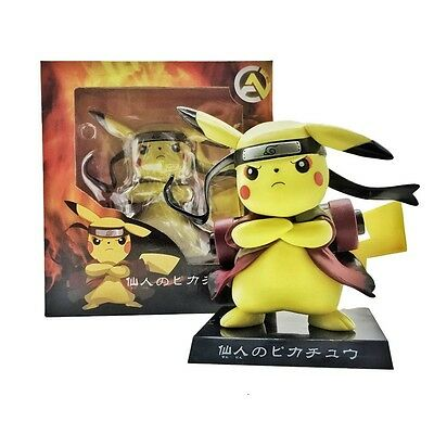 "Anime Pokemon Pikachu X Naruto 15cm/6"" PVC Figure Collection New In Box"