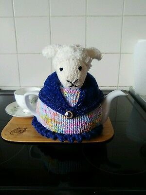 Handknitted Mrs sheep tea cosy