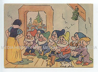 Vintage Postcard, Disney Snow White & 7 Dwarves, B. Gala, 1946