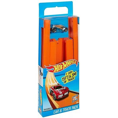 Hot Wheels 15ft Straight Track with Car - Brand new!