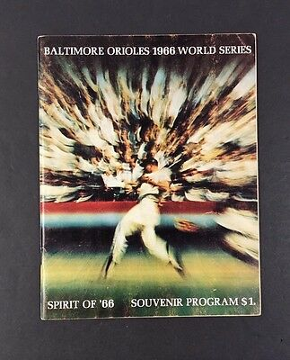 1966 World Series Baseball Program Baltimore Orioles vs Los Angeles Dodgers