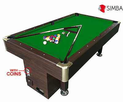 8 Ft Pool Table Billiard Playing Cloth with coin machine for public places Zeus