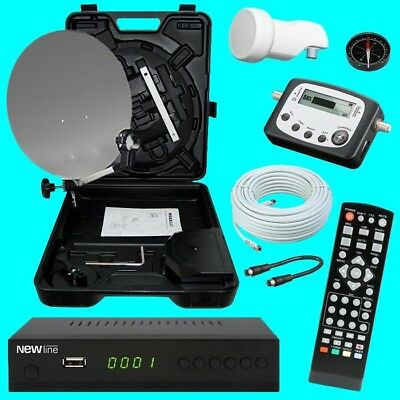 HD Camping Mobile SAT Anlage ✔ HD Receiver 12 & 230 ✔ Kabel ✔ LNB ✔ SAT-Finder✔