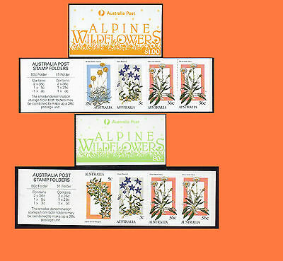 1986 Alpine Wildflowers 80c and $1 Booklets  MNH
