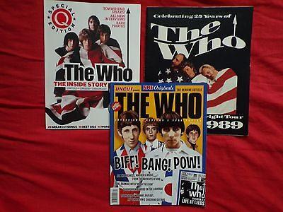The Who -1989 Prog+ Uncut + Q Magazine Specials Mods Carnaby St Etc Pete Townsnd