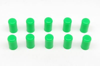 "10pcs GREEN Silicone Caps ID 6mm 1/4"" Vacuum End Plug Tube Cover by AUTOBAHN88"