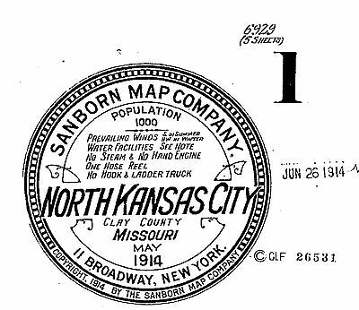 North Kansas City, Missouri~Sanborn Map©~5 sheets made in 1914 on a CD