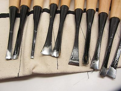 10pc Mastercarver Basic Wood Carving Tools Set w/Canvas Roll 401004